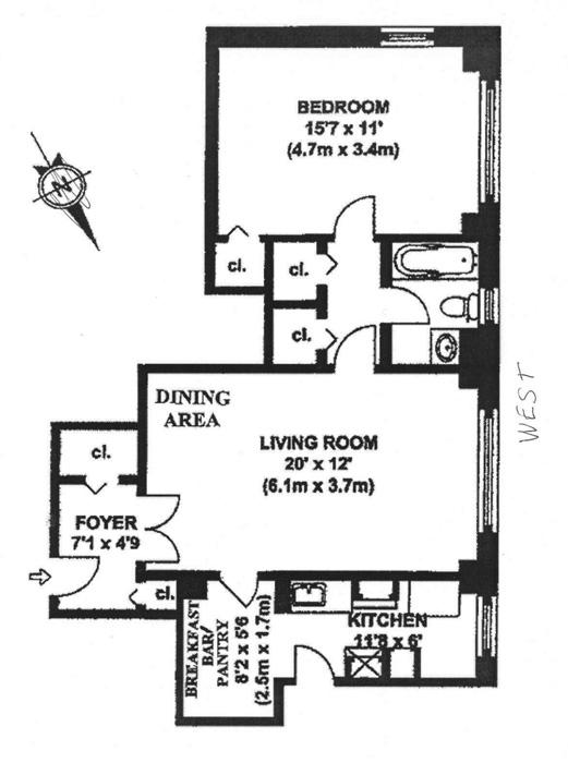 400 East 59th Street, Midtown East, NYC, $545,000, Web #: 479728