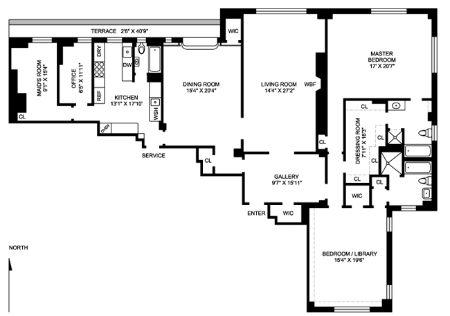 1095 Park Avenue, Upper East Side, NYC, $3,910,000, Web #: 485044