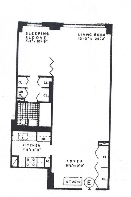 205 Third Avenue, East Village, NYC, $490,000, Web #: 487608