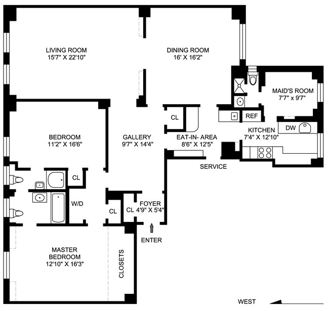 320 West End Avenue, Upper West Side, NYC, $1,975,000, Web #: 498178