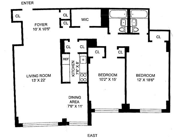 1175 York Avenue, Upper East Side, NYC, $1,085,000, Web #: 528300