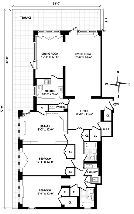 45 Sutton Place South, Midtown East, NYC, $2,350,000, Web #: 546218