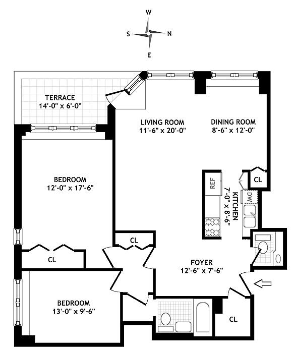 301 East 22nd Street, Flatiron/Gramercy Park, NYC, $990,000, Web #: 560884
