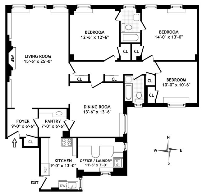 4 East 95th Street, Upper East Side, NYC, $2,545,000, Web #: 566225