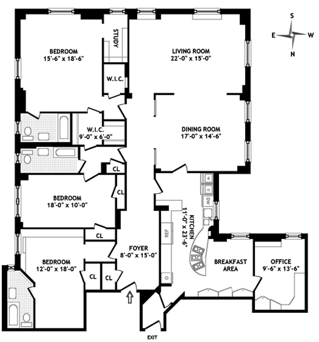 924 West End Avenue, Upper West Side, NYC, $3,250,000, Web #: 597746