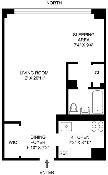 205 West End Avenue, Upper West Side, NYC, $435,000, Web #: 711105