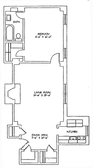 2 Horatio Street 12L, West Village, NYC, $990,000, Web #: 718427