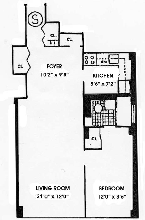 520 East 72nd Street, Upper East Side, NYC, $455,000, Web #: 730120