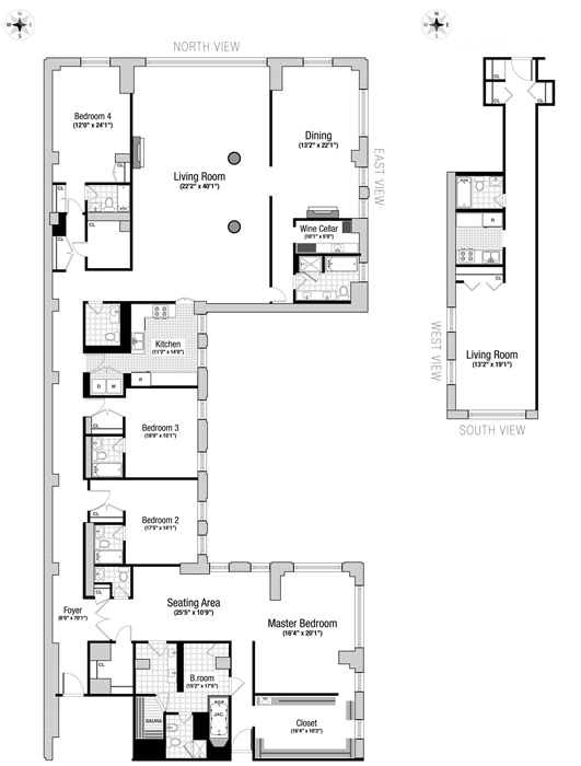 106 Central Park South, Midtown West, NYC, $14,250,000, Web #: 757276