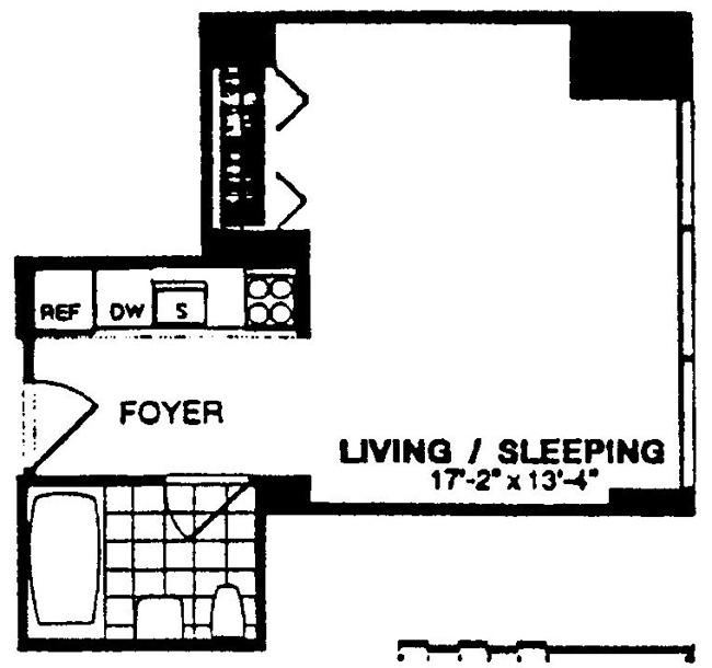 250 East 54th Street, Midtown East, NYC, $535,000, Web #: 766983