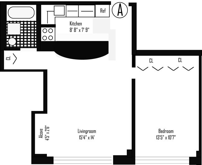 130 West 67th Street, Upper West Side, NYC, $689,000, Web #: 794256