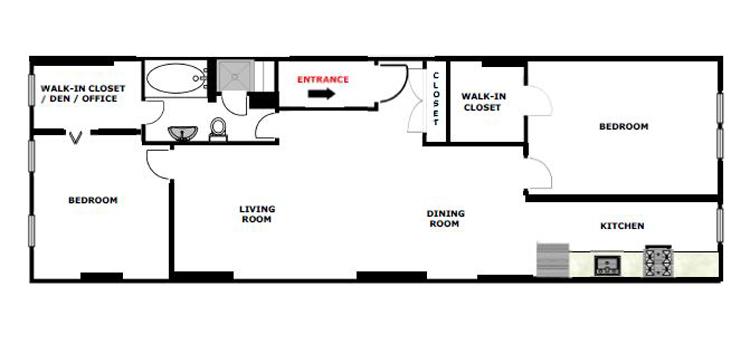 Beautifully  Renovated 2 Bedroom, Brooklyn, New York, $2,500, Web #: 9900863