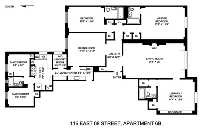116 East 68th Street, Upper East Side, NYC, $2,450,000, Web #: 1000308