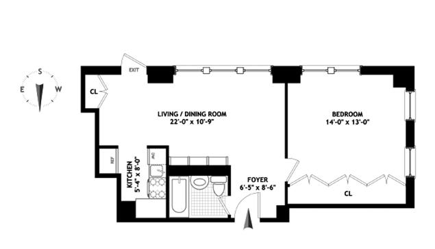 4 Lexington Avenue, Flatiron/Gramercy Park, NYC, $738,500, Web #: 10013140