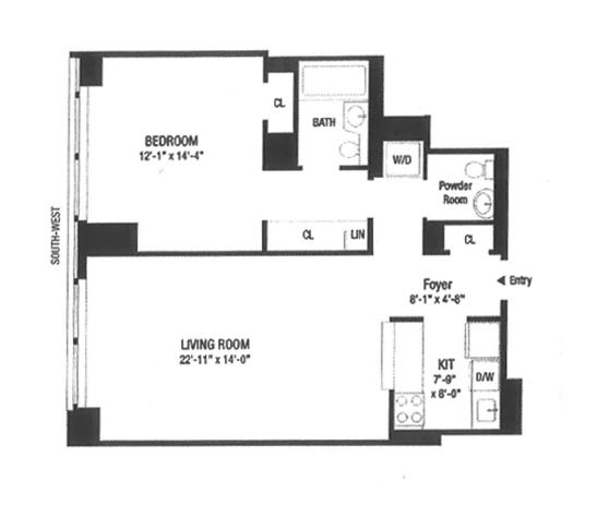 150 Columbus Avenue 9B, Upper West Side, NYC, $4,200, Web #: 10018072