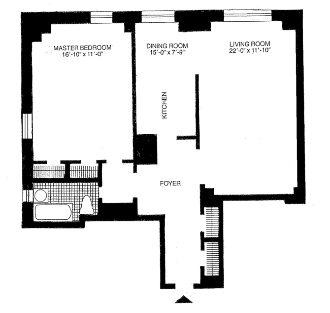 25 Central Park West, Upper West Side, NYC, $905,000, Web #: 1003880