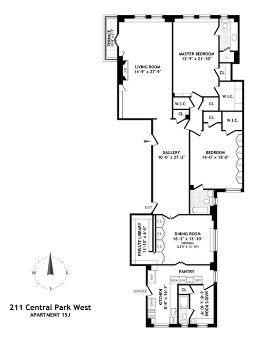 211 Central Park West, Upper West Side, NYC, $3,060,000, Web #: 1005053