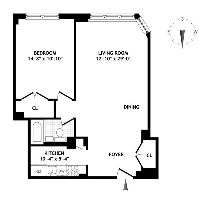 305 East 72nd Street, Upper East Side, NYC, $505,000, Web #: 1012712