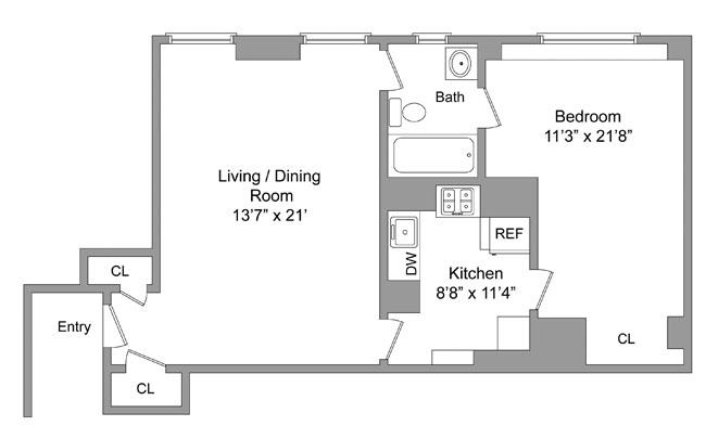 390 Riverside Drive, Upper West Side, NYC, $528,675, Web #: 1016300