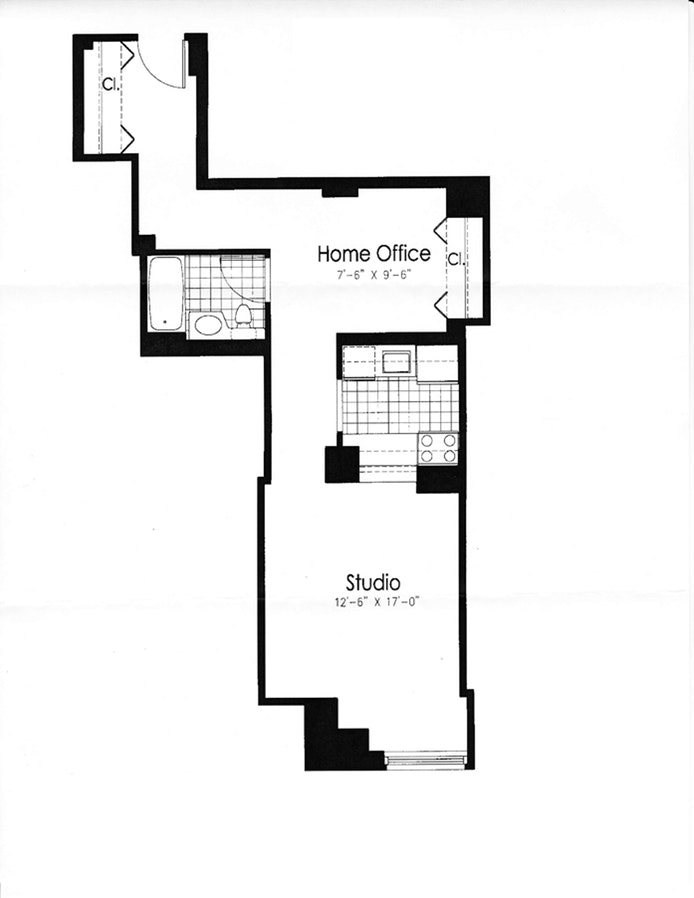 88 Greenwich Street 629, Financial District, NYC, $735,000, Web #: 10238181