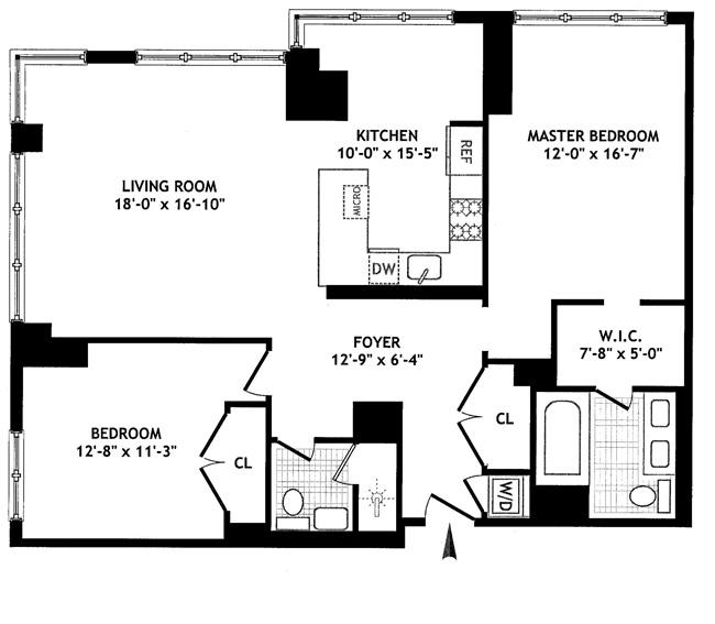 350 West 42nd Street, Midtown West, NYC, $1,300,000, Web #: 1037635