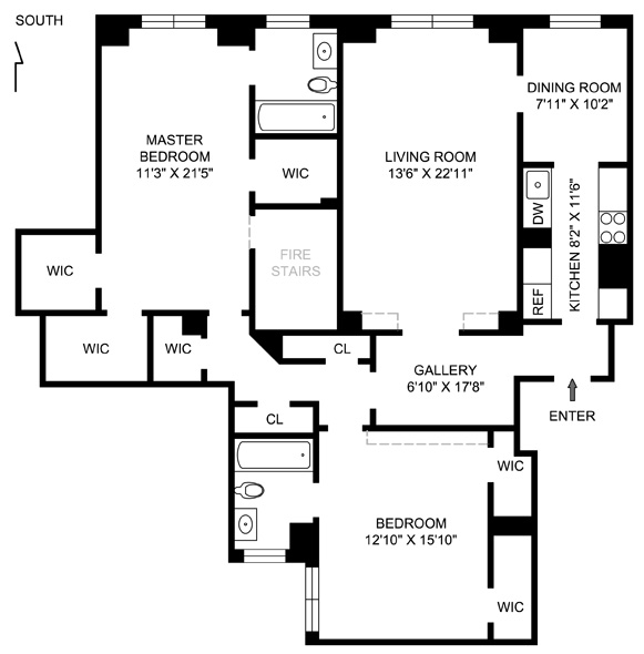 14 Sutton Place South, Midtown East, NYC, $1,153,000, Web #: 1056309