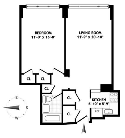 2 Charlton Street 11F, West Village, NYC, $610,000, Web #: 1060596