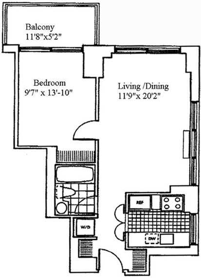 205 East 68th Street, Upper East Side, NYC, $725,000, Web #: 1076040
