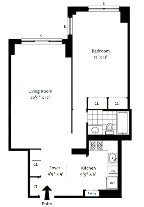 300 East 40th Street, Midtown East, NYC, $640,000, Web #: 1090224