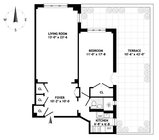120 Central Park South, Midtown West, NYC, $1,400,000, Web #: 1092611
