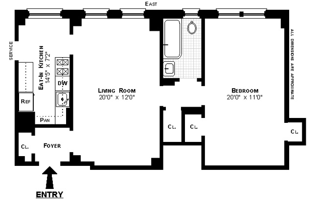 875 West End Avenue, Upper West Side, NYC, $577,500, Web #: 1094201
