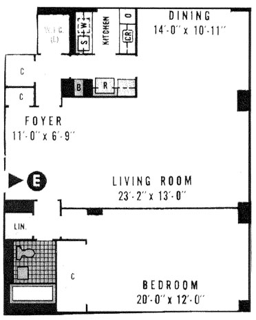 340 East 64th Street, Upper East Side, NYC, $820,000, Web #: 1100108