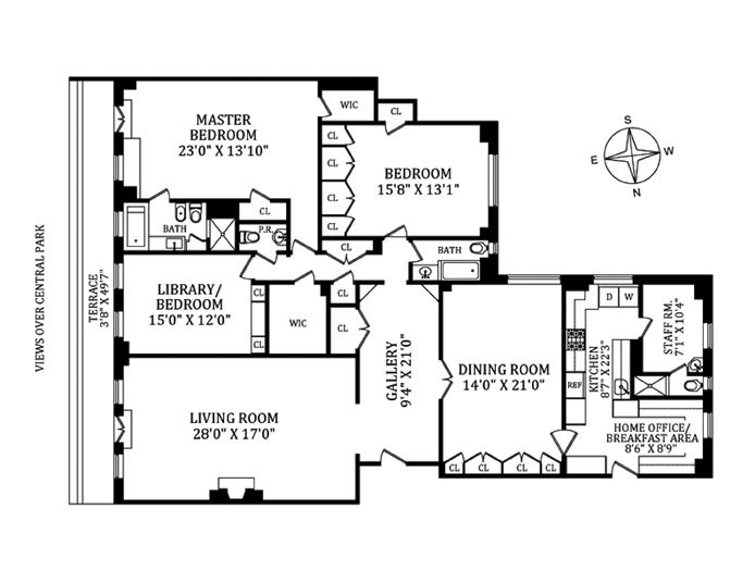 211 Central Park West 15E, Upper West Side, NYC, $12,000,000, Web #: 11004634