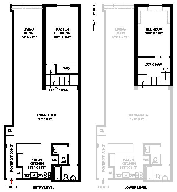 415 West 55th Street, Midtown West, NYC, $1,195,000, Web #: 1107238