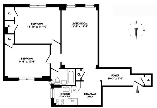 60 East 96th Street, Upper East Side, NYC, $852,000, Web #: 1110937