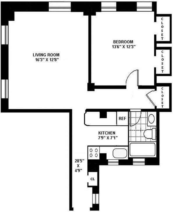 205 West 54th Street, Midtown West, NYC, $550,000, Web #: 11150539