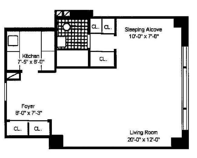 167 East 67th Street, Upper East Side, NYC, $390,000, Web #: 1115395