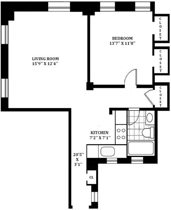 205 West 54th Street, Midtown West, NYC, $475,000, Web #: 1123713