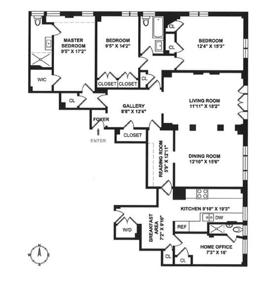 895 West End Avenue, Upper West Side, NYC, $2,850,000, Web #: 11254886
