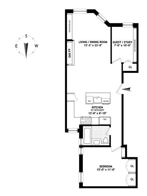 107 West 82nd Street, Upper West Side, NYC, $1,153,500, Web #: 11315111
