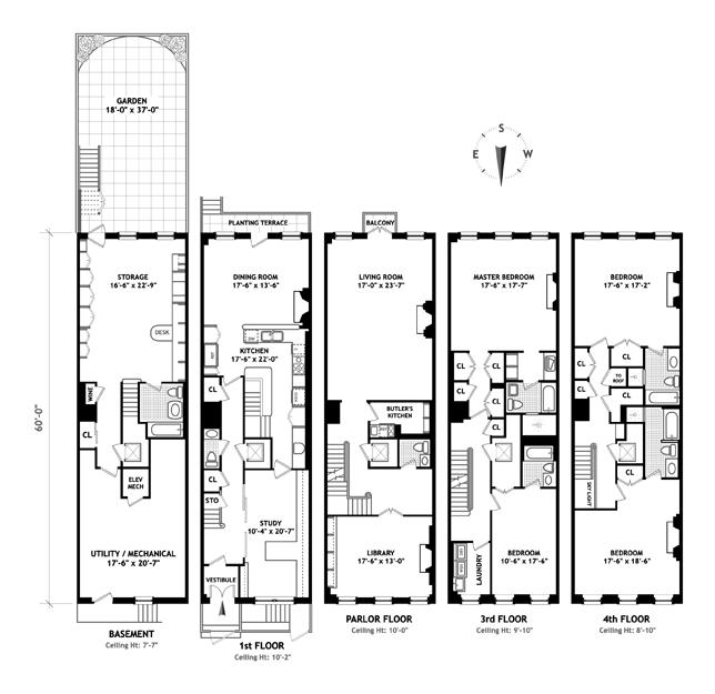 East 75th Street, Upper East Side, NYC, $9,280,000, Web #: 11320943