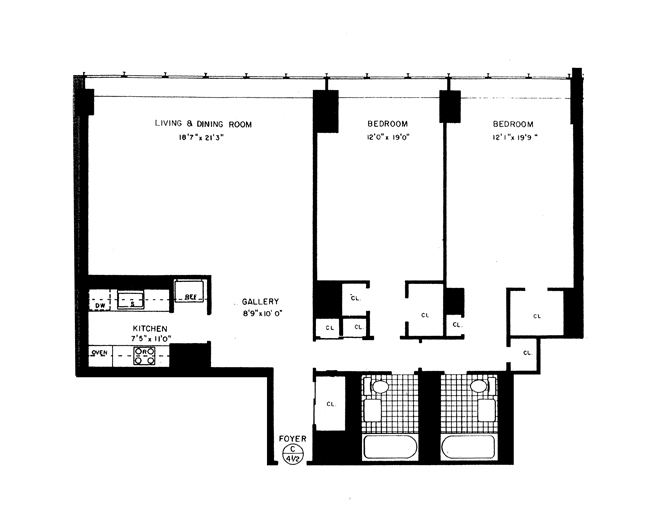860 United Nations Plaza, Midtown East, NYC, $1,180,000, Web #: 11363804
