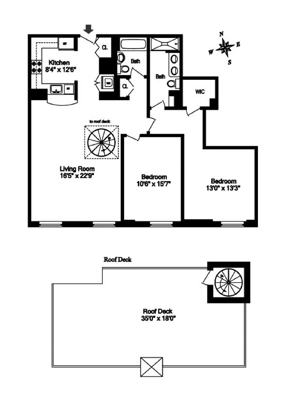 North Moore Designer Penthouse, Tribeca/SOHO/Chinatown, NYC, $3,925,000, Web #: 11387749