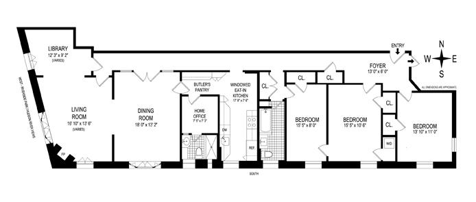 400 Riverside Drive, Upper West Side, NYC, $2,506,250, Web #: 11394809