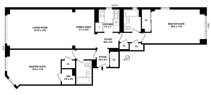 20 East 68th Street, Upper East Side, NYC, $2,499,000, Web #: 11406717