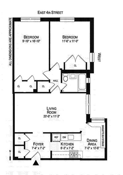 99 East 4th Street, East Village, NYC, $1,125,000, Web #: 11443114