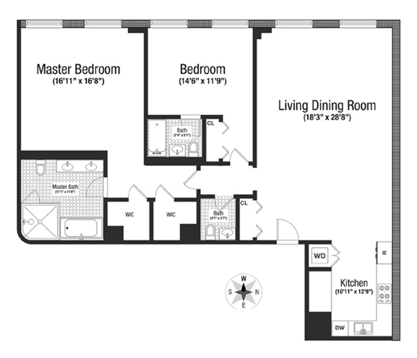 415 Greenwich Street 4E, Tribeca/SOHO/Chinatown, NYC, $12,750, Web #: 11482582