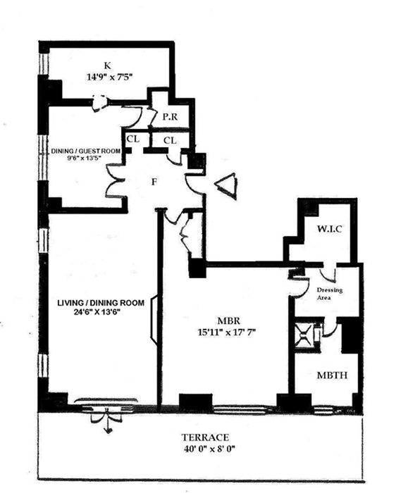25 Central Park West, Upper West Side, NYC, $2,025,000, Web #: 1153980