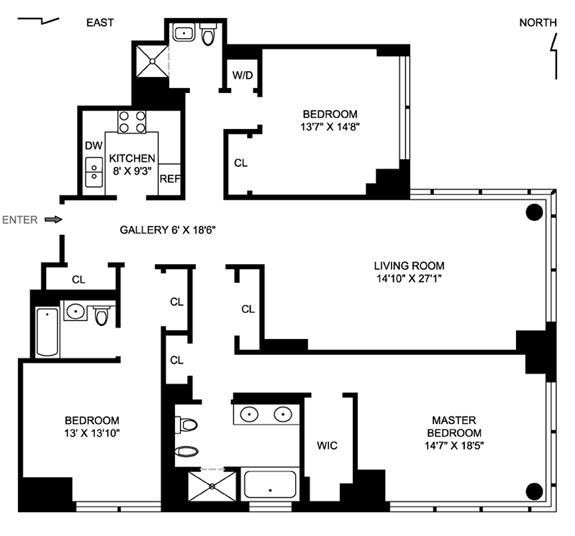 230 West 56th Street, Midtown West, NYC, $4,200,000, Web #: 1156368