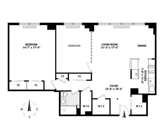 180 West End Avenue, Upper West Side, NYC, $1,325,000, Web #: 11871893